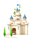 Vector icon castle — Stock Vector