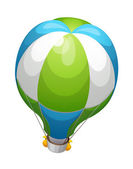 Vector icon hot air balloon — Stock Vector