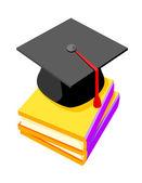 Vector icon graduation cap — Stock Vector
