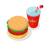 Vector icon fastfood — Stock Vector