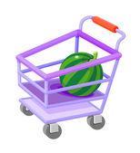 Icon shopping cart — Stock Vector