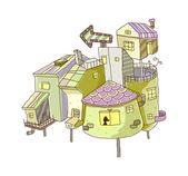 Vector edificio - arquitectura — Vector de stock