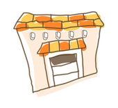 Vektor byggnad - arkitekturen — Stockvektor