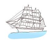Cartoon ship — Stock Vector