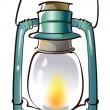 Old lantern — Stock Vector