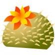 Blooming cactus — Stock Vector #13451991
