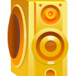 Orange speaker  — Stock Vector