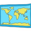 Royalty-Free Stock Imagen vectorial: Map of the world