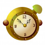 Brown alarm clock — Stock Vector #13452809