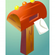 Royalty-Free Stock Vector Image: Red mailbox