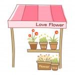 Flower Shop — Stock Vector
