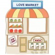 Love market - Stock Vector