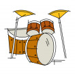 Stock Vector: Drums