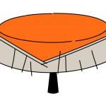 Orange kitchen table — Stock Vector #13454006