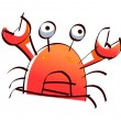Stock Vector: Red crab