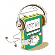 Green mp3 player — Grafika wektorowa