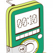 Green mp3 player  — Stock Vector