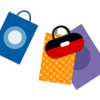 Royalty-Free Stock Vector Image: Colorful shopping bags