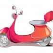 Red scooter — Stock Vector #13455830