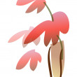 Red flower in a vase — Stock Vector #13455935