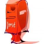 红色邮箱 — 图库矢量图片
