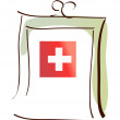 Stock Vector: First aid kit
