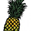 Pineapple — Stockvectorbeeld