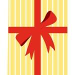 Yellow gift box — Stock Vector #13456891