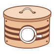 Stock Vector: Brown container