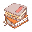 Stack of books — Stock Vector #13458677