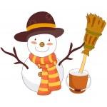 Snowman — Stock Vector #13459297