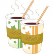 Coffee in a paper cup — Stock Vector