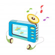 Blue mp3 player — Stock Vector