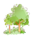 Green Forest — Stock Vector