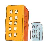 красочные здания — Cтоковый вектор