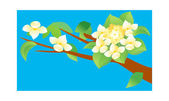 Blossoming branch — Stock Vector