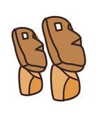 Statues de l'île de pâques — Vecteur