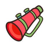 Megáfono rojo — Vector de stock