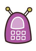 Teléfono móvil púrpura — Vector de stock