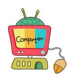 Fantastic computer — Stock Vector
