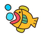 şahane balık — Stok Vektör