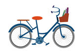 Blue bicycle — Stock Vector
