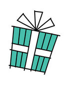 Light green holiday gift — Stock Vector