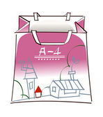 Purple shopping bag — Stockvector