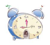 Fantastic alarm clock — Stock Vector