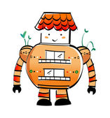 Фантастический роботы — Cтоковый вектор