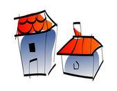Colorful house — Vector de stock