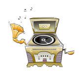 Caja de música — Vector de stock