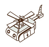 Helicóptero de brinquedo — Vetorial Stock