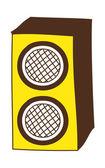 Yellow speaker — Stock Vector